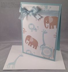 Zoo Babies, Label Love, Artisan Label punch baby boy card