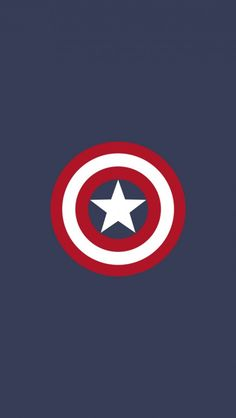 Captain America Flat Logo iPhone 5 Wallpaper