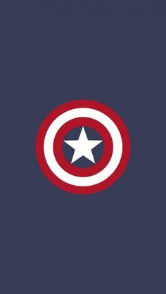 Captain America Flat Logo iPhone 5 Wallpaper