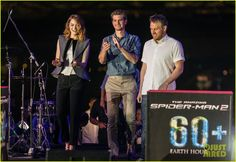Emma Stone & Andrew Garfield Hold Hands at Earth Hour Kick-Off Event! | Andrew Garfield, Emma Stone, Jamie Foxx, Spider Man Photos | Just Jared