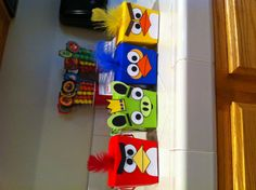 Angry bird treat boxes