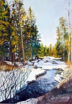 Spring Thaw ~ Terri Sweeney ~ Watercolor