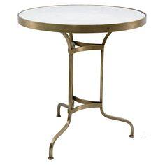 Mesas cafetería Elva con sobre de mármol.