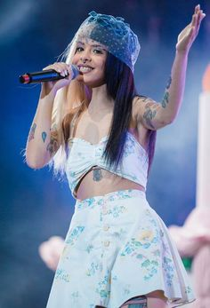 Melanie Martinez performing at 2017 Lollapalooza Brazil Day 2 in March...