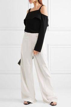 Calvin Klein Collection - Laskin Cady Wide-leg Pants - White - IT38