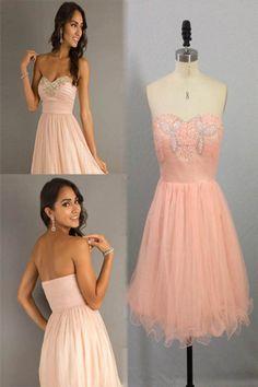 2014 Homecoming Dresses A Line Short/Mini Sweetheart Rhinstones Organza
