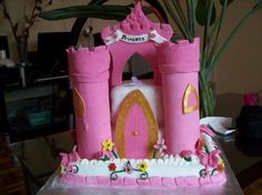 The princess castle cake