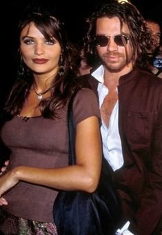 Helena and Michael, 1992 Most Beautiful Women, Beautiful People, Ali Hewson, Michael Hutchence, Helena Christensen, Famous Couples, Celebs, Celebrities, Celebrity Couples