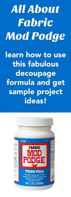 Learn all about the Fabric Mod Podge formula! Find out what it is, how to use…