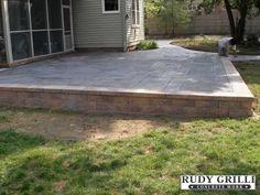 Raised Concrete Patio | Rudy Grilli Concrete Work - Stamped Decorative Concrete Raised Patios ...
