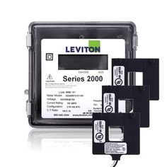 Leviton 2O480-12W Series 2000 277/480V 3P4W 1200A Outdoor kWh Meter Kit with 3 Split Core CTs by Leviton. $710.03. The Leviton Series 2000 line of revenue-grade meters meets all measurement and verification based opportunities - including load management and LEED rating achievement. Designed to provide a simple and effective process for accurately capturing measurements of power consumption, Series 2000 Meters are easy to specify and install for new construction an...