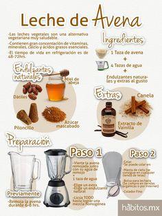 Leche de Avena. Se puede usar para hacer hot cakes (en lugar de la leche de vaca) y para hacer cualquier receta