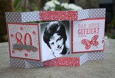 Creativelädle: Einladungskarten zum 80 igen Geburtstag