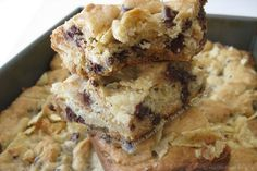 Chewy Chocolate Chip Cookie Bars Filled with Sea Salt and Vinegar Chips  why does this actually sound delicious