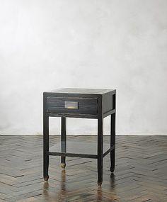 Canton Black Bedside Table