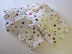 Snowman Flannel Sheet Set Full Flat Fitted 2 Pillowcases White Multi-Color #Unknown