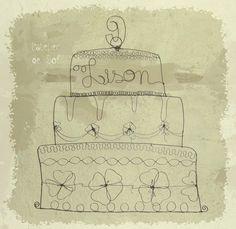 Joyeux anniversaire! ... gâteau en fil de fer by latelierdesof prénom différent à la demande