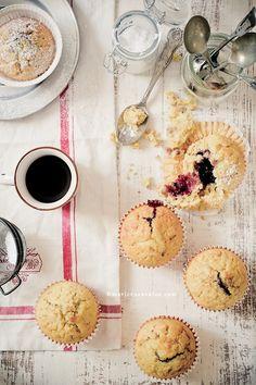 muffins con marmellata di more