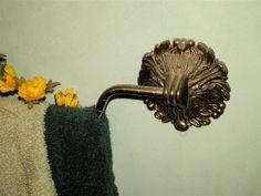 Arteriors Brass Bath Towel Bar Holder by dagutzyone on Etsy