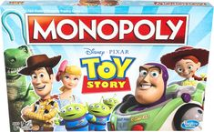 Disney Pixar, Disney Toys, Disney Stuff, Buzz Lightyear, Woody, Jessie, Toy Story Movie, Monopoly Game, Monopoly Board