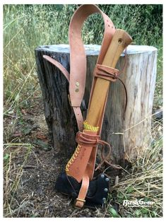 Leather Axe Shoulder Strap / Carry sling by BushgearLeatherworks Survival Gear, Survival Skills, Survival Prepping, Survival Quotes, Survival Tattoo, Bushcraft Kit, Bushcraft Camping, Primitive Survival, Knife Sheath