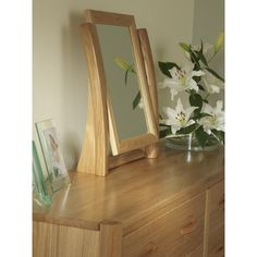 illuminated triple dressing table mirror bedroom design
