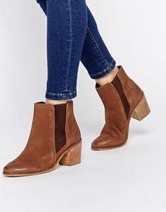 Dune Peonie Suede Heeled Chelsea Boots