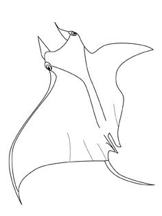 Fish coloring pages  ray