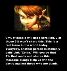 Link is not Zelda