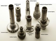 Spline shafts used in motion control / transmission applications. Oem, Rolls, It Cast, Shapes, Engineering, Projects, Blue Prints, Bread Rolls, Technology