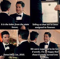 Chris Traeger and Ben Wyatt. Parks and Recreation.