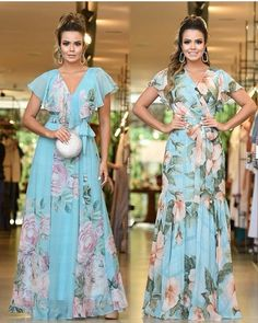 Image may contain: 2 people, people standing Frill Dress, Chiffon Maxi Dress, Dress Skirt, Simple Dresses, Casual Dresses, Fashion Dresses, Evening Dresses, Summer Dresses, Chic Dress