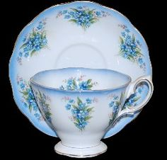 "Royal Albert Dainty Dina series ""Betty"" in Forget-Me -Nots Bone china '66-'70s"
