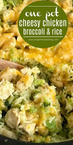 One pot cheesy chicken broccoli rice is a quick & easy skillet dinner. Broccoli, rice, chicken chunks, and cheese cook in one pot for a delicious dinner. Easy Skillet Dinner, Skillet Dinners, Skillet Recipes, Rice Dinners, Healthy Dinner Recipes, Cooking Recipes, Simple Easy Dinner Recipes, Easy Dinner For 2, Dessert Recipes