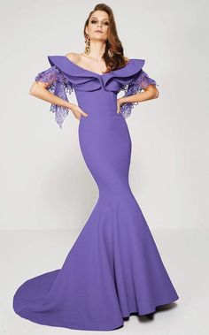 MNM Couture - 2365 Layered Off Shoulder Mermaid Dress Off Shoulder Mermaid Dress, Long Mermaid Dress, Sexy Evening Dress, Evening Dresses, Prom Dresses, Designer Gowns, Girly Outfits, Chic Dress, Formal Gowns