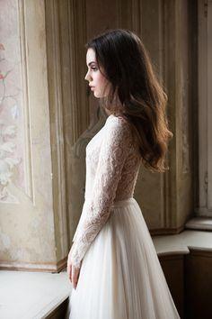 Romantic lace. Daalarna 2014 Wedding Dress collection via Bridal Musings Wedding Blog