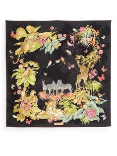 Ferragamo Energia Jungleprinted Foulard Scarf in Multicolor (BLACK) | Lyst