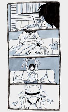 Nami qui répare le chapea de paille de Luffy. Partie 3 Anime One Piece, One Piece Comic, One Piece Fanart, Nami Swan, Gravity Falls Comics, Luffy X Nami, One Piece Funny, One Piece Drawing, One Piece Ship