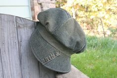 Blue Denim Upcycled Newsboy Hat by GenerationGap on Etsy