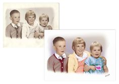 The Photo Restoration Center Before & After Examples. Including fixing faded photos, repairing cracks & tears, replacing missing areas, mold removal & more. Photo Restoration, Frame, Picture Frame, Frames, Hoop, Picture Frames