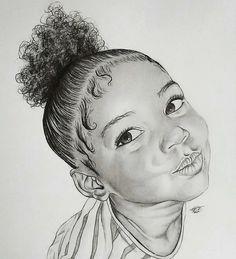 """From - """"Hair Challenge Love this one alot! Black Love Art, Black Girl Art, Art Girl, African American Art, African Art, Art Sketches, Art Drawings, Drawings Of Black Girls, Arte Black"""