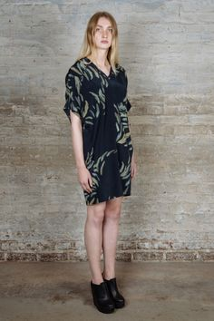 A.F.VANDEVORST FREQUENCY FEATHER PRINTED DRESS