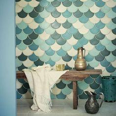 Leuk voor de toekomstige badkamer van de gite? Marokkaanse badkamer tegels | Interieur inrichting