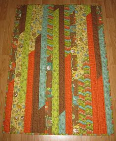 Baby jelly roll - very easy quilt~