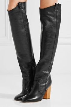 Laurence Dacade - Silas Crinkled-leather Over-the-knee Boots - Black - IT39.5