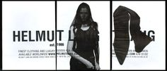 helmut lang ad clippings