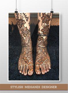 Bridal Mehandi design by Stylish Mehandi Designer | Designer: Fatema H Koser