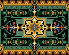 Vintage Floral, French Vintage, Embroidery Patterns, Cross Stitch Patterns, Bead Loom Bracelets, Floral Rug, Loom Beading, Colorful Pictures, Floor Rugs