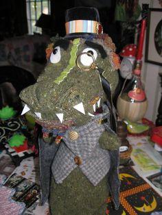 Alligator Puppet I made for Jan Wolfe.