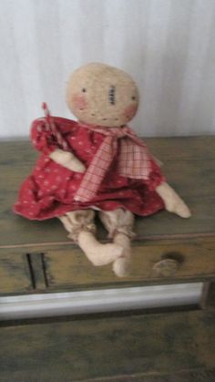 Primitive Snowgirl by Bettesbabies on Etsy, $44.00